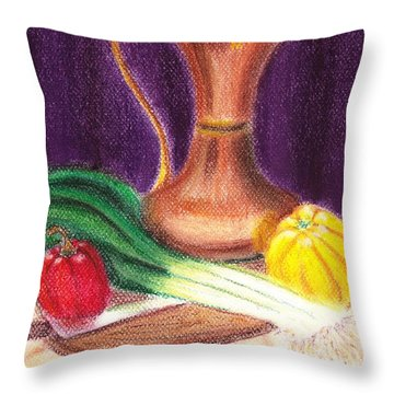 Gold Jug Throw Pillow