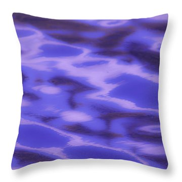 Gold Lake Abstract Throw Pillow