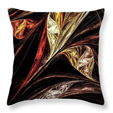 Gold Leaf Throw Pillow by Elizabeth McTaggart