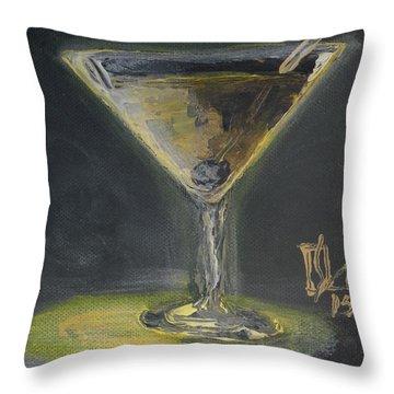 Gold Martini Throw Pillow