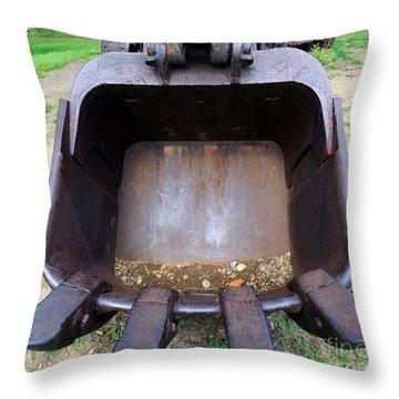 Gold Mining Steam Shovel Bucket Close-up Throw Pillow