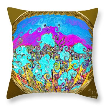 Gold Throw Pillow by Oksana Semenchenko