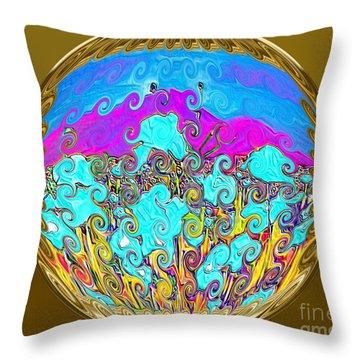Gold Throw Pillow by Oksana Semenchenko