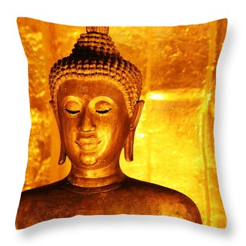 Gold On Gold Throw Pillow by Nola Lee Kelsey
