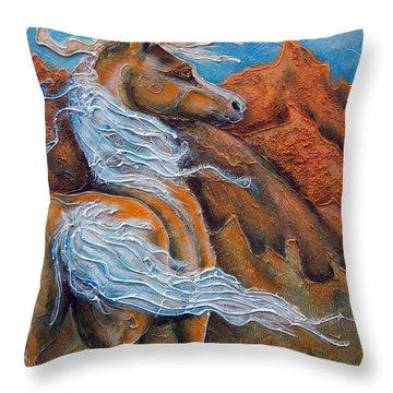 Gold Rush Throw Pillow
