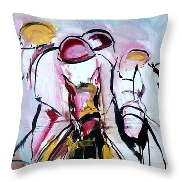 Gold Sold Throw Pillow
