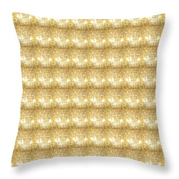 Throw Pillow featuring the photograph Gold Sparkle Tone Pattern Unique Graphics by Navin Joshi