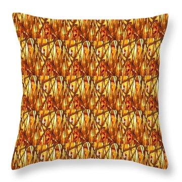 Throw Pillow featuring the photograph Gold Strand Sparkle Decorations by Navin Joshi
