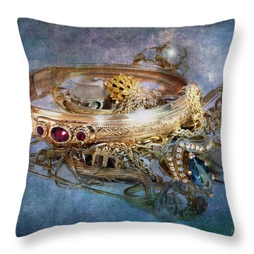 Gold Treasure Throw Pillow