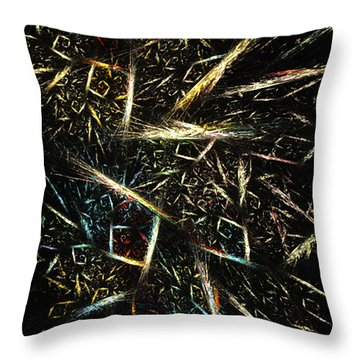 Gold Waste - Abstract Art By Rgiada Throw Pillow by Giada Rossi