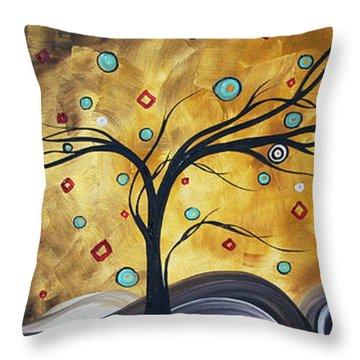 Golden Admiration By Madart Throw Pillow by Megan Duncanson