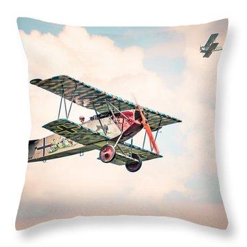 Golden Age Of Aviation - Replica Fokker D Vll - World War I Throw Pillow