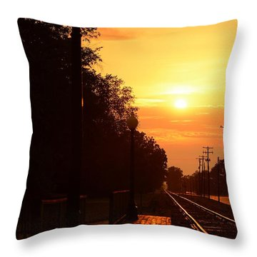 Golden Age Of Rails Throw Pillow