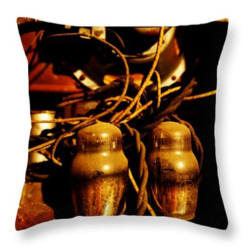 Golden Age Of Wireless Throw Pillow by Richard Reeve