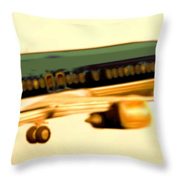 Golden And Bronze Rust Throw Pillow by Marcello Cicchini