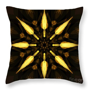 Golden Arrows Throw Pillow by Elizabeth McTaggart