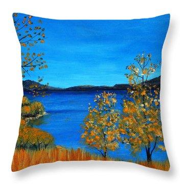 Golden Autumn Throw Pillow by Anastasiya Malakhova