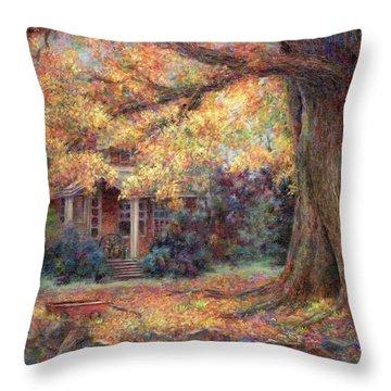 Golden Autumn Throw Pillow by Susan Savad