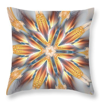 Golden Beach Kaleidoscope Throw Pillow