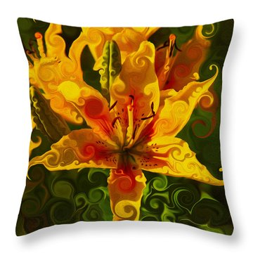 Golden Beauties Throw Pillow