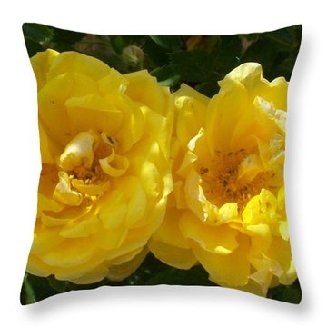 Golden Beauty Throw Pillow