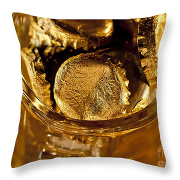 Throw Pillow featuring the photograph Golden Beer  Mug  by Wilma  Birdwell