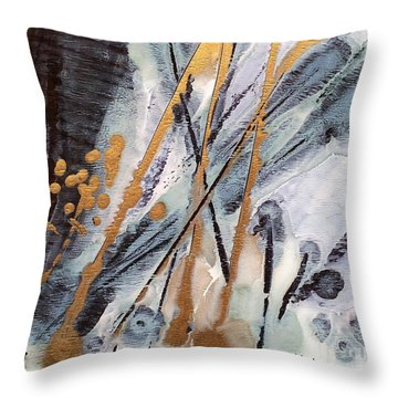 Golden Berries Throw Pillow