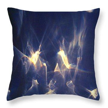 Throw Pillow featuring the photograph Golden Birds by Leena Pekkalainen