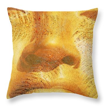 Golden Buddha - Art By Sharon Cummings Throw Pillow by Sharon Cummings