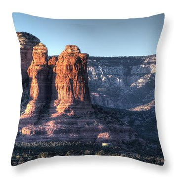 Golden Buttes Throw Pillow by Lynn Geoffroy