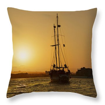 Throw Pillow featuring the photograph Golden Cabo Sunset by Christine Till