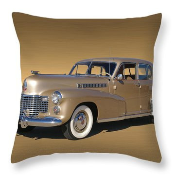 Golden Cadillac 1941 Fleetwood Throw Pillow