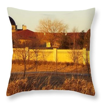 Golden Carmel Throw Pillow