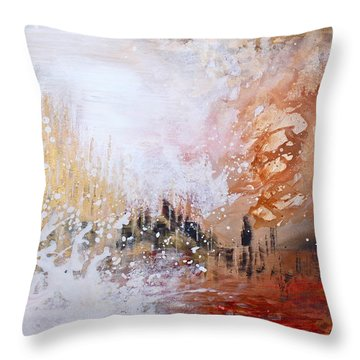 Golden City Throw Pillow by Kume Bryant