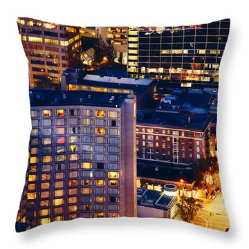 Golden Cityscape Vancouver Mcccl Throw Pillow