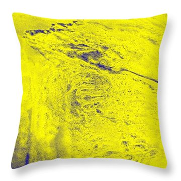 Golden Clouds One Snowy Hill Throw Pillow by Feile Case