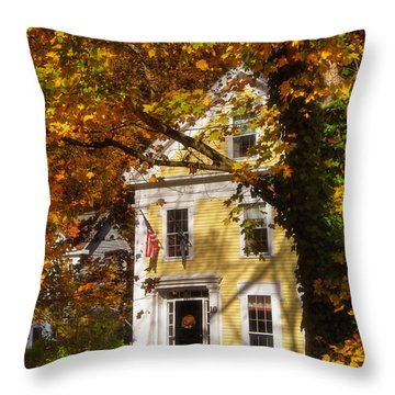 Golden Colonial Throw Pillow