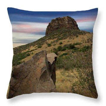 Golden Colorado Sunset  Throw Pillow by AR Annahita
