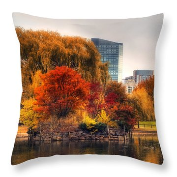 Golden Common Throw Pillow by Joann Vitali