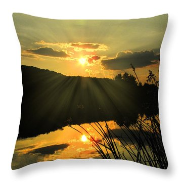 Golden Day Throw Pillow