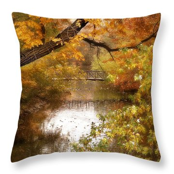 Golden Days Throw Pillow by Jessica Jenney