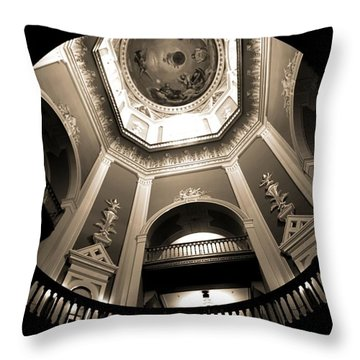 Golden Dome Ceiling Throw Pillow by Dan Sproul