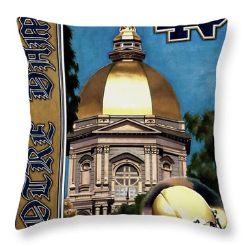 Golden Dome Throw Pillow
