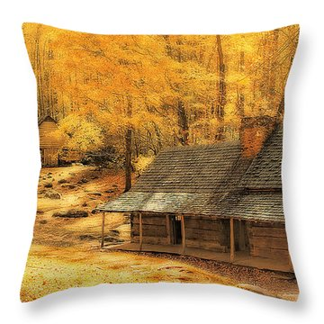 Throw Pillow featuring the photograph Golden Dream Home by Geraldine DeBoer