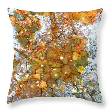 Throw Pillow featuring the photograph Golden Dreams by Julia Ivanovna Willhite
