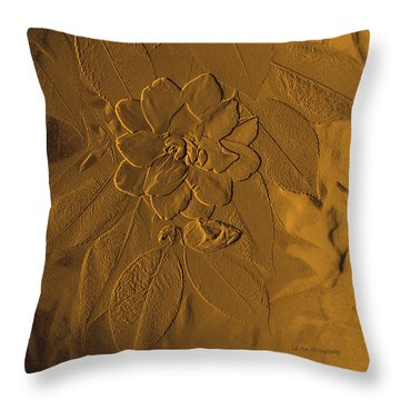 Golden Effulgence Throw Pillow