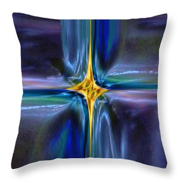 Golden Entity Throw Pillow by Mike Breau