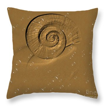 Golden Fantasy. Shell. Abstarct. Beautiful Home Collection 2015 Throw Pillow