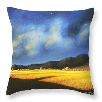 Golden Fields Throw Pillow