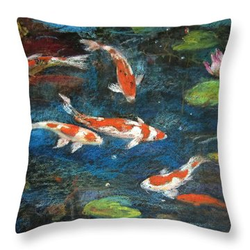 Golden Fish Throw Pillow